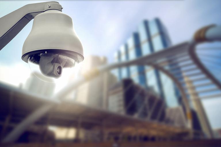 Überwachungskamera filmt
